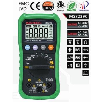 Mastech MS8239C Auto range Handheld 3 3/4 Digital Multimeter AC DC Voltage Current Capacitance Frequency Temperature Tester