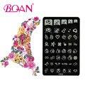 BQAN 10 unids Corazón/Star/Bowknot de Imágenes Nail Nail Plate Estampación CK22