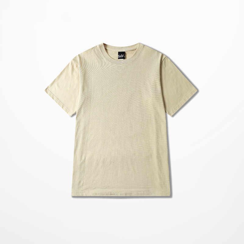 2019 Harajuku Retro Flut Marke T-shirts Männer 100% Baumwolle Qualität Vintage T-shirt Mode Männer T Shirt Orange Rosa Hemd Männer kpop
