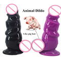 "2.95""Thick Big Animal Dildos with suction cup silicone dildo ribbed extra stimulate huge anal plug erotic sex toys for women"