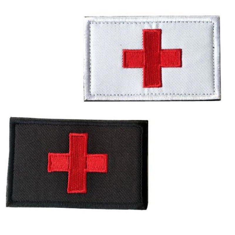 Red Cross Paramedic Army Combat Morale First Aid Patches Tactical Medical Armband Insignia Patch Badge Patch