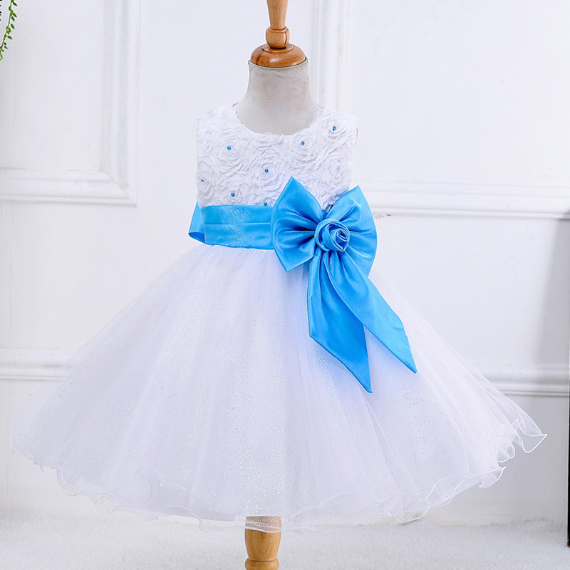 Baby Girls Princess Dress 2018 New Fashion Flowers Sleeveless Wedding clothes For Girl dress 2-10 Years Old Kids Summer Clothes azel elegant latest new child dress for 2 3 year old girls vestidos fashion summer kid clothing little girls daily clothes 2017