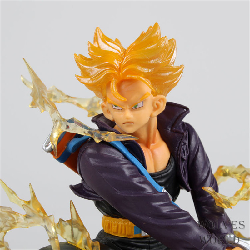 Japan anime Dragon Ball Z Super Saiyan Trunks PVC Action Toy Figures dolls for boys gift Brinquedos Model juguete kids toys 7cm large size jp hand done animation crystal dragon ball set genuine model toy gift action figures anime toys kids