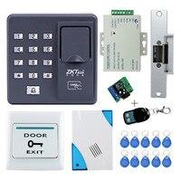Full Kit Biometric Fingerprint Access Control X6 Electric Strik Lock Power Supply Exit Button Door Bell