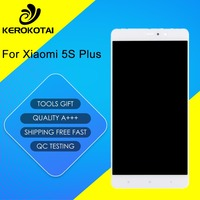 For Xiaomi MI 5S Plus 100% Tested Good Quality LCD Display Touch Screen Digitizer Full Assembly MI 5S Plus LCD Assembly