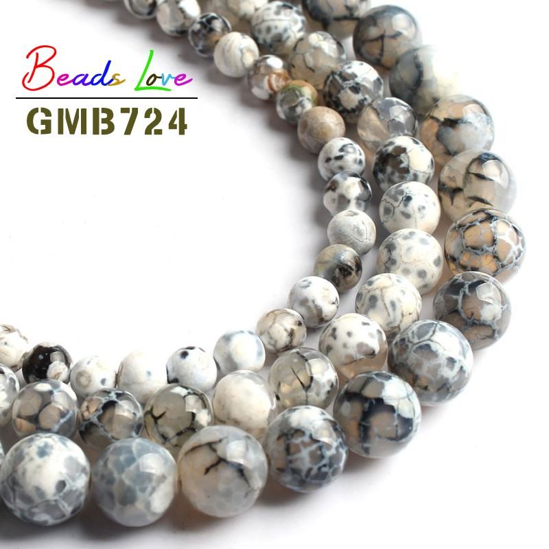 wholesale New 6-8-10mm Black Agate Onyx Round Loose Beads Gemstone