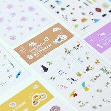 2 шт./лот милые DIY пончик Фламинго Сакура Kawaii Перо Наклейки планировщик Дневник Журнал Note Diary Бумага Скрапбукинг