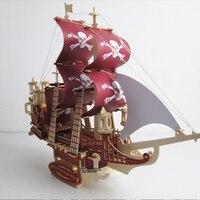 1pcs Lot Ship Puzzles Toys 7 Styles 3D Model Wooden Toys Black Pearl Anne S Revenge