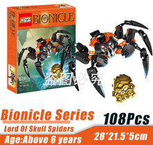 BionicleMask of Light XSZ 708-4 Children's Lord Of Skull Spider Bionicle Building Block Minifigure Toys Compatible with Legoe