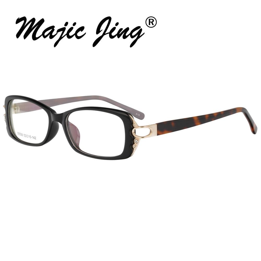 Магия Jing TR90 очки по назначению, очки для мужчин и женщин 55506 - Цвет оправы: black  tortoise A16
