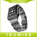 5 puntero correa de acero inoxidable correa de reloj 22mm 24mm pulsera de la venda de 38mm 42mm iwatch apple watch sport edición de plata negro