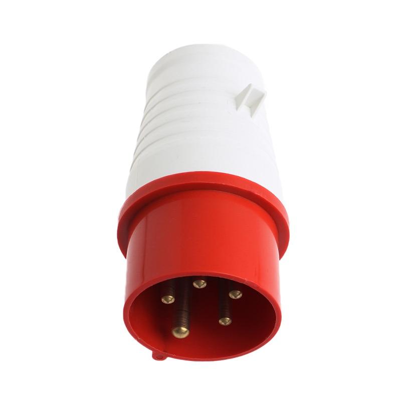 16 Amp 5 Pin Plug+Wall Mount Socket 380-415Volt Weatherproof IP44 3Phase 3P+N+E цена