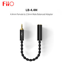 Fiio LB-4.4M (LB 4,4 M) 4,4mm hembra a 2,5mm macho adaptador equilibrado conexión 4,4mm enchufe auriculares para FIIO player M9 Q5 X7II(China)