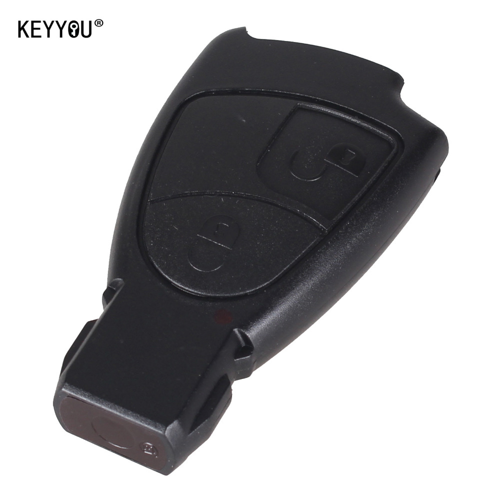 KEYYOU New 2 Button Replacement Remote Key Fob Case For Mercedes Benz C E ML Class With LOGO Free Shipping