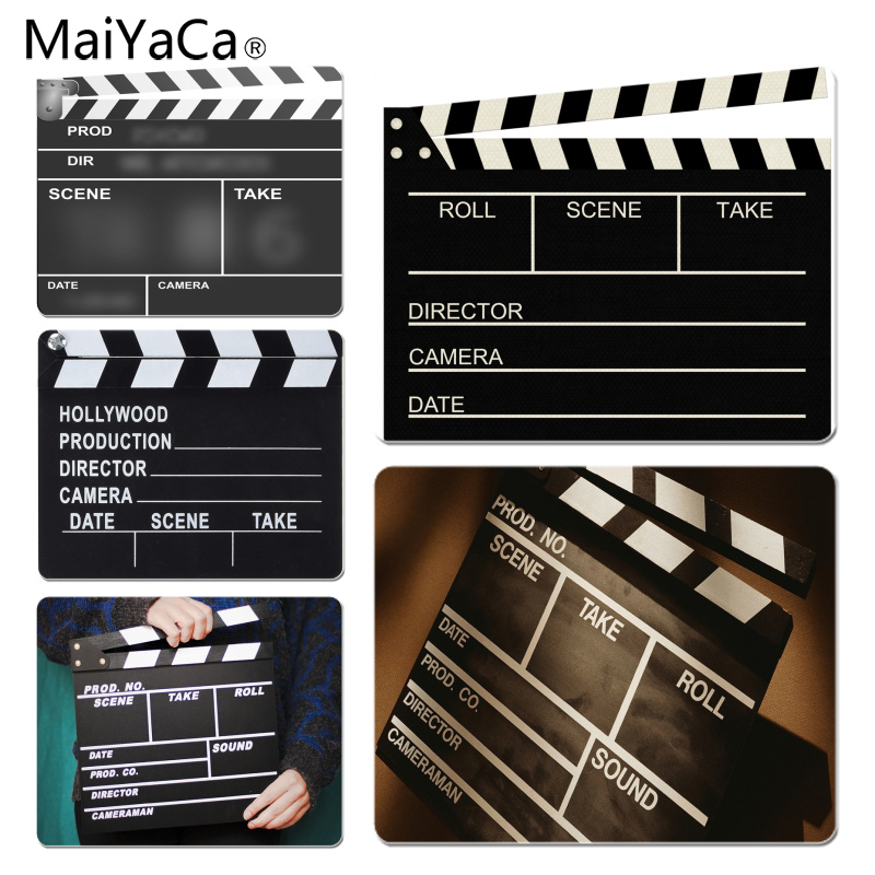 MaiYaCa New Printed Movie Clapperboard Large Mouse pad PC Computer mat Size for 180x220x2mm and 250x290x2mm Small Mousepad