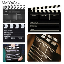 лучшая цена MaiYaCa New Printed Movie Clapperboard Large Mouse pad PC Computer mat Size for 180x220x2mm and 250x290x2mm Small Mousepad