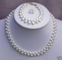 Bijoux 10x10, 7 à 8 perles de Culture d'eau Douce, bracelet, boucles d'oreilles, livraison gratuite