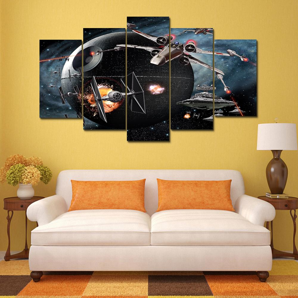 Print 5pcs Star Wars X Wing vs TIE Fighter movie home decor wall art ...