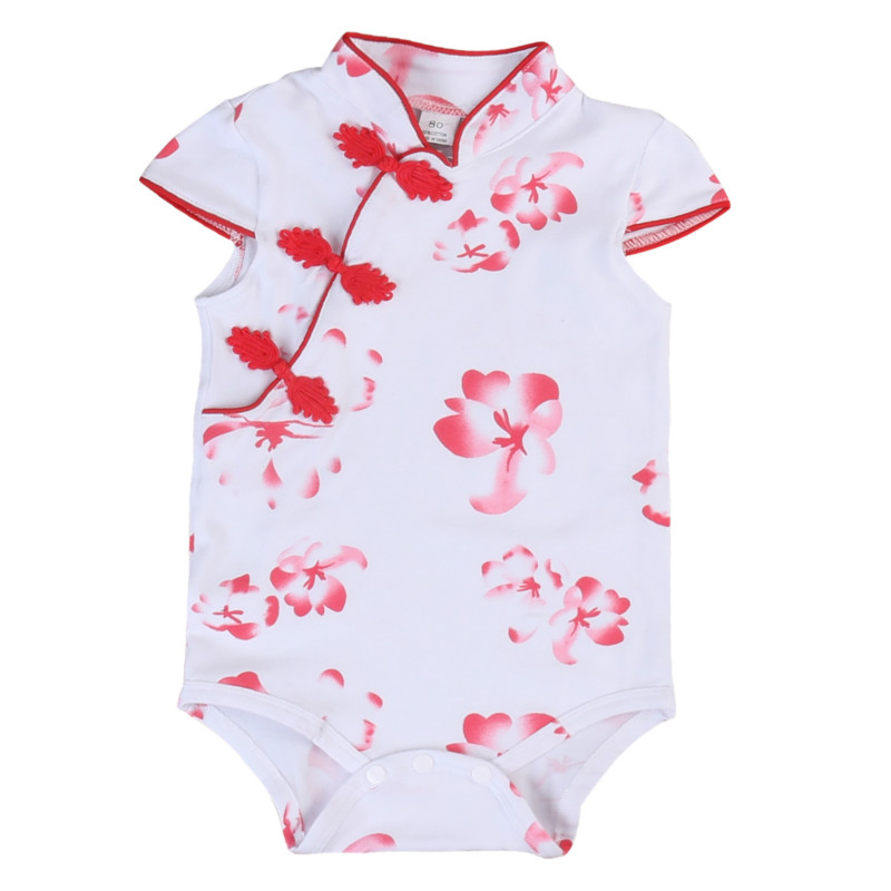 Girls' Baby Clothing Mother & Kids Emmababy Chinese Style Newborn Infant Kids Baby Girl Floral Romper Jumpsuit Playsuit Outfit