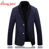 Men Winter Blazer Suit High Quality Slim Fit Wool Snow Warm Suits Brand Jacket Casual Cotton Business Party Dress Blazer F2368