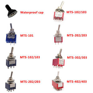 Toggle-Switch Waterproof-Cap Mini 3-Position-Mts-103 with MTS-102 120VAC 6A