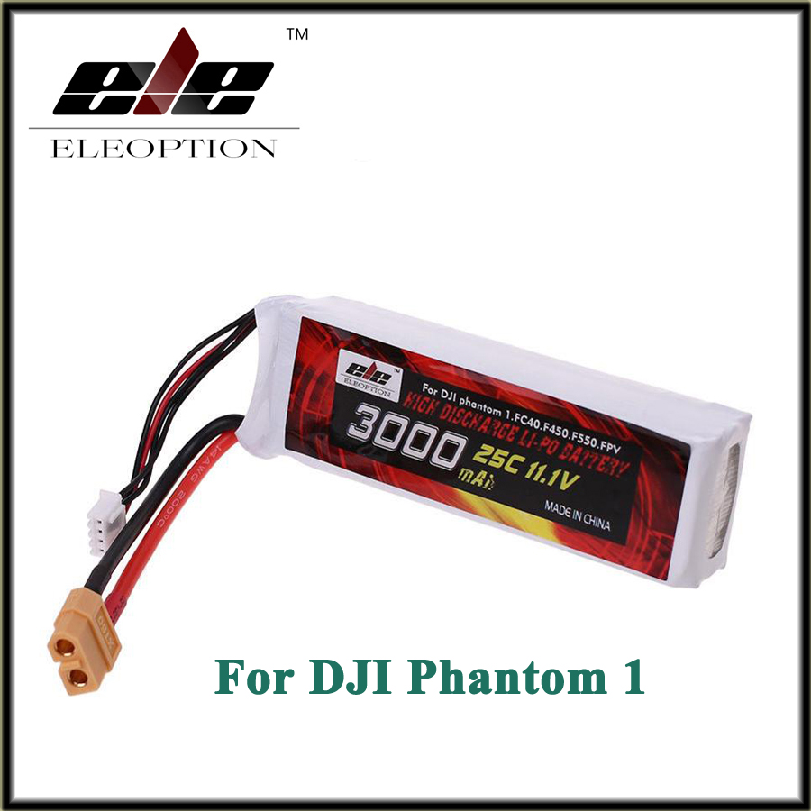 Eleoption Lipo Battery 11.1V 3000mah 25C XT60 Plug For DJI Phantom 1 FC40 DJI Flame Wheel F450 F550 FPV Quadcopter Li-po