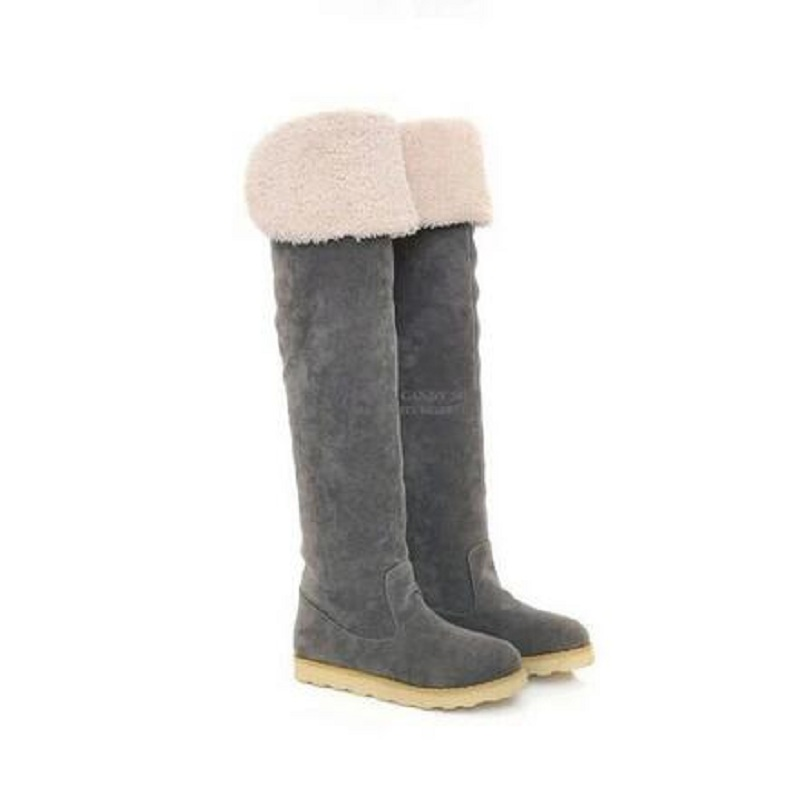 font b women b font boots winter waterproof snow boots cow muscle over the knee