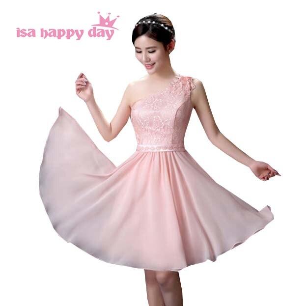 Frau koreanischen prom rosa blume kleid elegantes schulter schatz ...