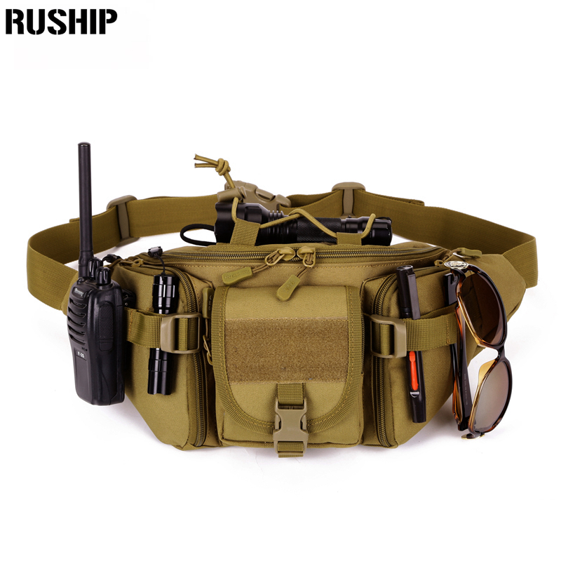 Tactics Waist Pack For Men Women Fanny Pack Bum Bag Hip Money Belt Travelling Mountaineering Bicycle Mobile Phone All the hold fashion men genuine leather real cowhide wallet hook cell mobile phone case bag bum hip belt waist pack bag coin purse pouch