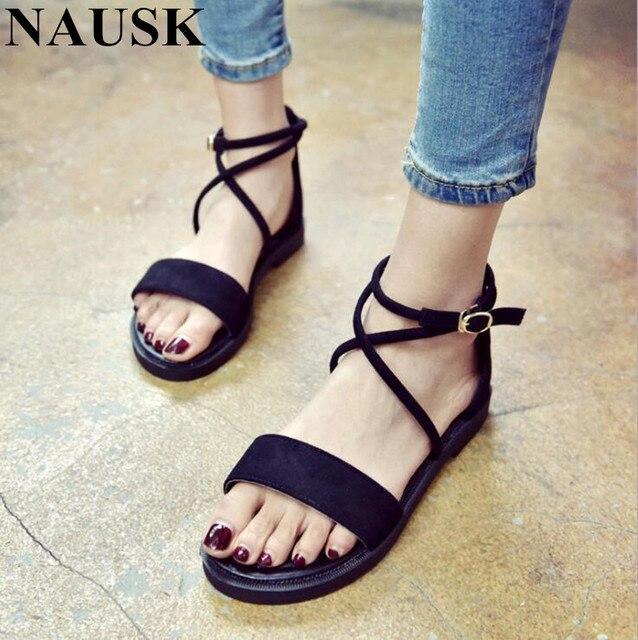 b2a15322e407 NAUSK 2018 Gladiator Sandals Women Summer Shoes Platform Fashion Women  Sandals Casual Occasions Comfortable Female Flats Sandals