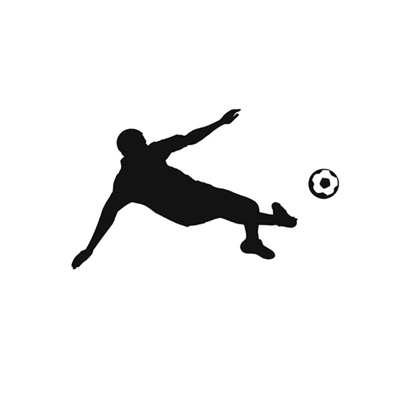 Aliexpresscom  Buy Man Football Player Kicking Custom Kick - Soccer custom vinyl decals for car windows