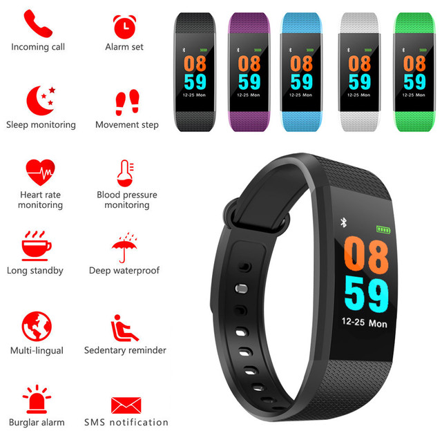 679453c298c5 US $6.86 30% OFF|Smart Watch Sports Fitness Activity Heart Rate Tracker  Blood Pressure Watch Sport Touch Screen Sporting Goods-in Smart Watches  from ...
