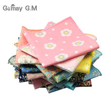 Brand Casual Men's Cotton Handkerchiefs Woven Floral Print Pocket Square Male Wedding Party Handkerchief Soft Towels Hanky(China)
