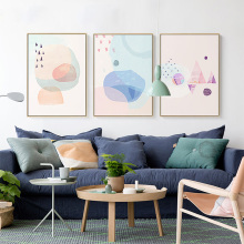 Small And Pure Fresh Sitting Room Decorates Picture Nordic Europe Sofa Setting Hang Mural Dining-Room Wall