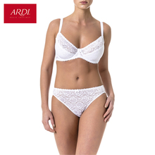 Woman's Bra and Briefs Set Lace White Soft Cup Large Size Big Breast Support 80 85 90 C D E ARDI Free Delivery N1010