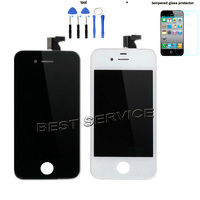 For IPhone 4S LCD Screen With Touch Screen Digitizer Assembly Full Set White Black Color Free