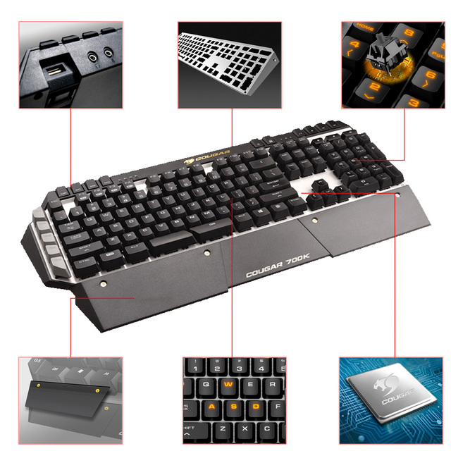 Cougar 700K Professional Gaming Esport Cherry MX Mechanical Keyboard Black Switch 6 Programmable Keys LED Backlit USB for LOL CF