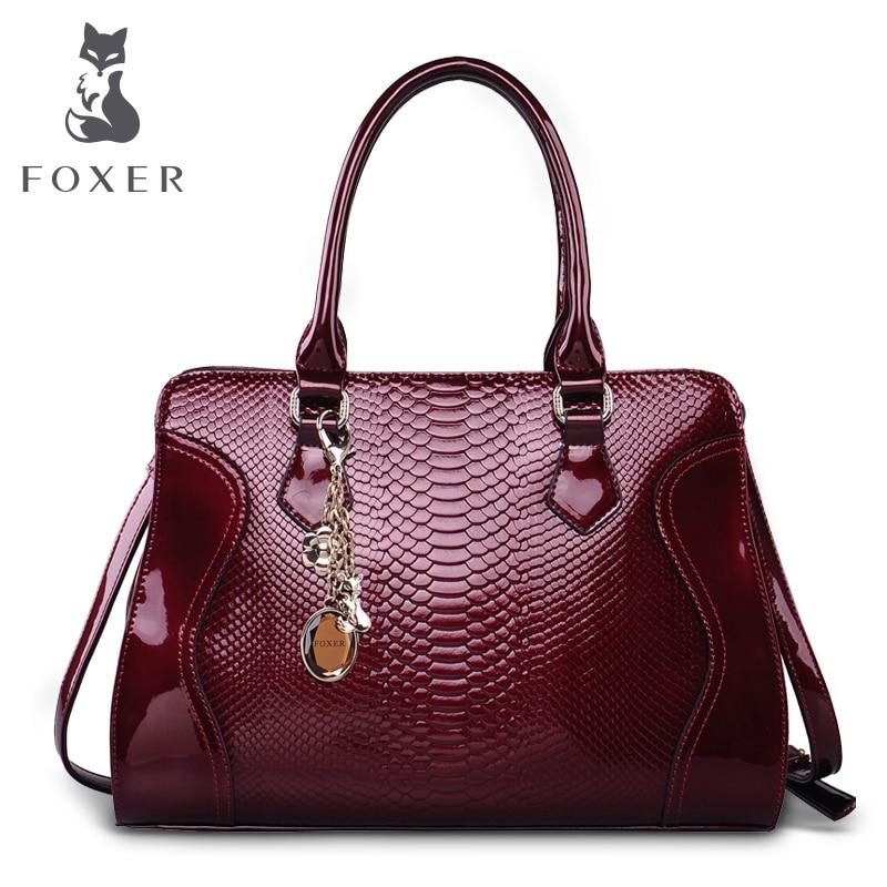 Foxer Brand Women Leather Handbag Luxury Shoulder Bag Women's Bags Female Bag &