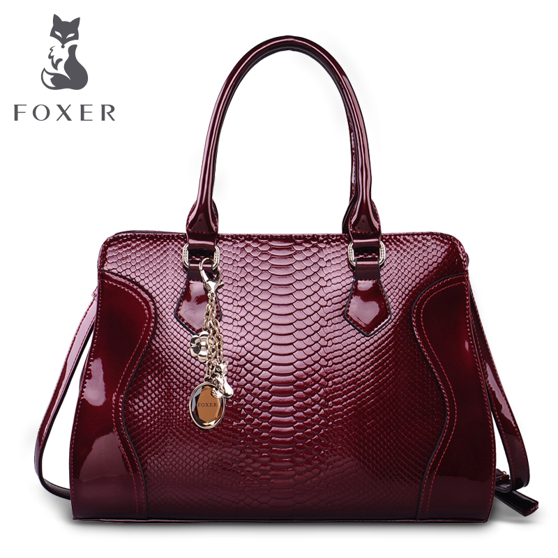 Foxer Brand Women s Cow Leather Shoulder Bag Luxury Handbags Women Bags Female Tote New Designer