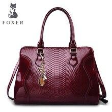 Foxer Brand Women's Cow Leather Shoulder Bag Luxury Handbags Women Bags Female Tote New Designer