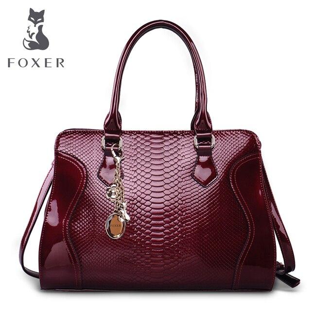 Foxer marca mujer de cuero de vaca bolso de hombro de lujo bolsos de las mujeres bolsas de asas femenina nuevo diseñador