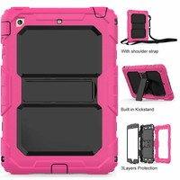 Tablet Case For IPad Mini Colorful High Impact Kids Armor Hybrid Shockproof Kickstand Tablet Skin Cover