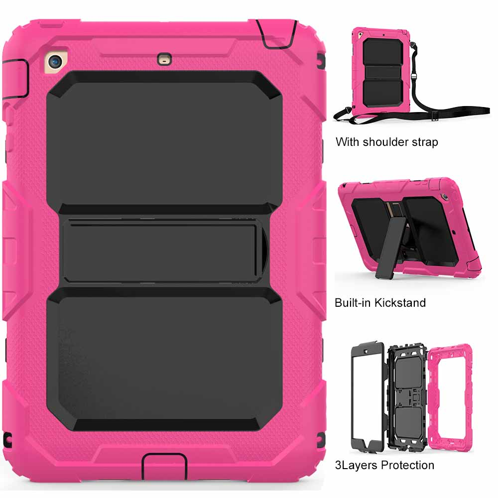 Tablet Case for iPad Mini Colorful High Impact Kids Armor Hybrid Shockproof kickstand Tablet Skin Cover for iPad Mini 3 2 1 Capa case for ipad pro 12 9 case tablet cover shockproof heavy duty protect skin rubber hybrid cover for ipad pro 12 9 durable 2 in 1