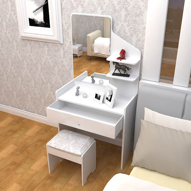 Commode Simple Moderne Peinture Blanche Grande Taille Appartement Chambre Commode Commode Dressing Armoire Mode Jardin