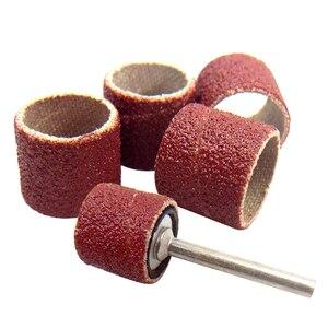Image 2 - Kit de ponçage de tambour bande de ponçage 1/8 pouces mandrins de sable adaptés pour Dremel perceuse à ongles outils rotatifs Accessori Dremel