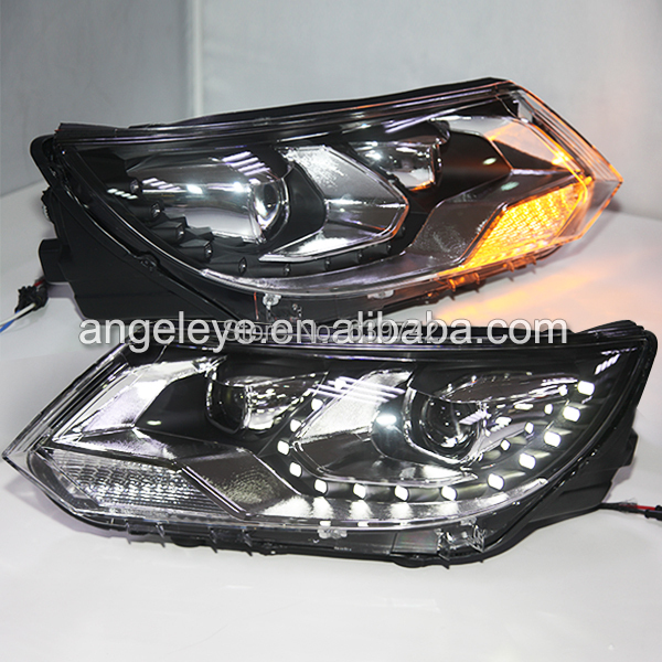 For VW New Tiguan LED Head Lamp Headlights front lights with Projector Lens 2012-2014year LF type