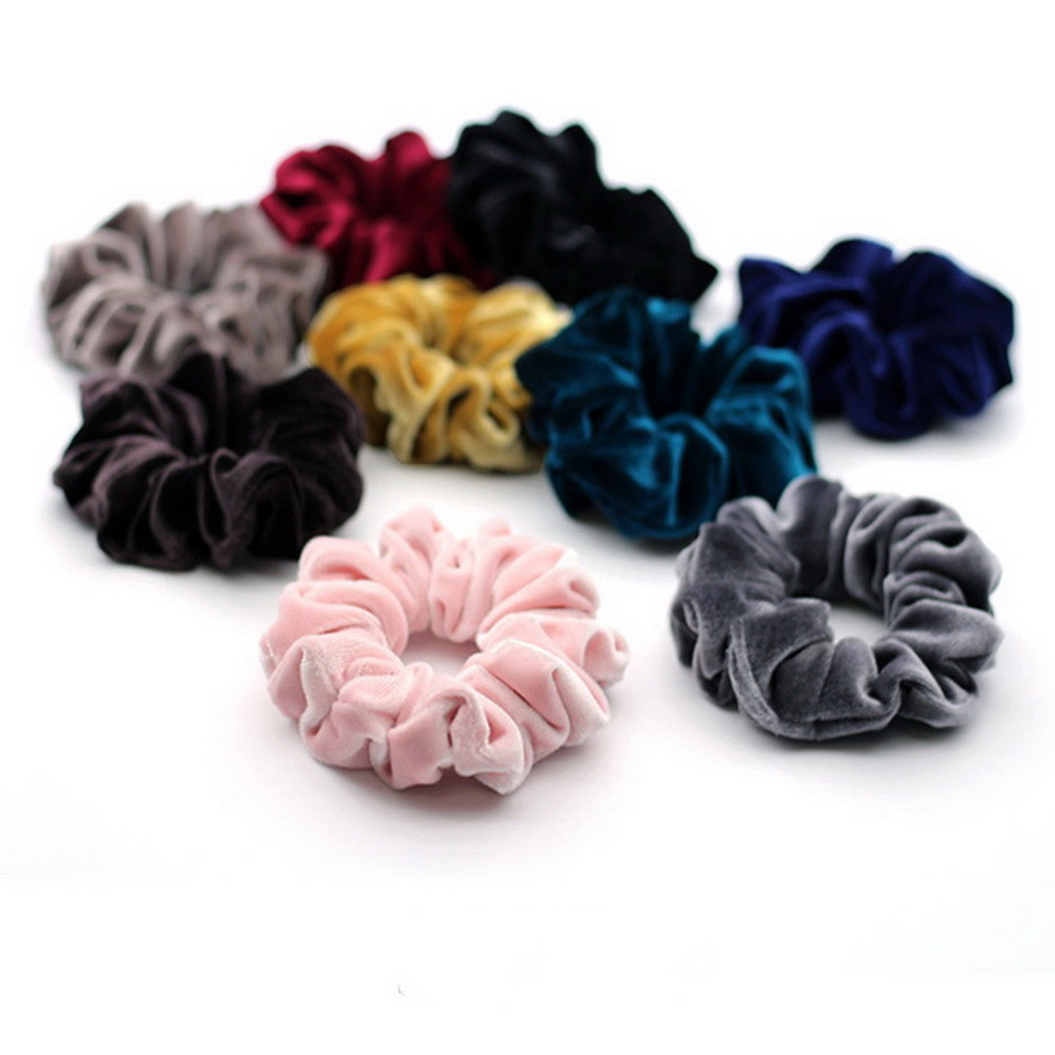 isnice women's winter velvet hair Scrunchies Hair Tie Hair Accessories Ponytail Holder Hair scrunchy Hot Sale ornament