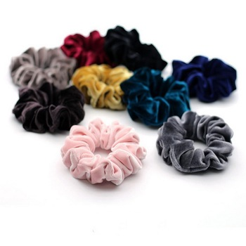 isnice women's winter velvet hair Scrunchies Hair Tie Hair Accessories Ponytail Holder Hair scrunchy Hot Sale ornament