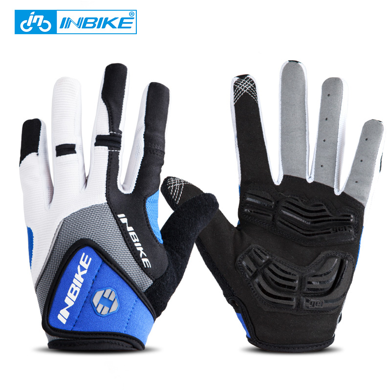 INBIKE Bicycle Bike Cycling font b Gloves b font Full Finger Gel Padded Outdoor Sports Skiing