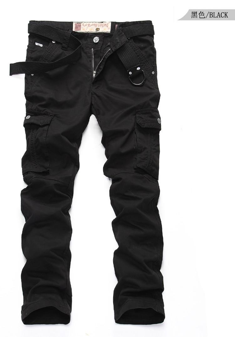 cheap black cargo pants - Pi Pants